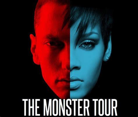 eminem uk tour rihanna and eminem reunite as they prepare for monster