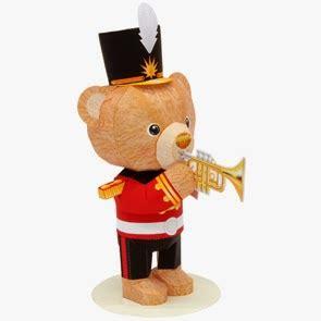 Teddy Papercraft - papercraft trumpet mini teddy papercraft4u free