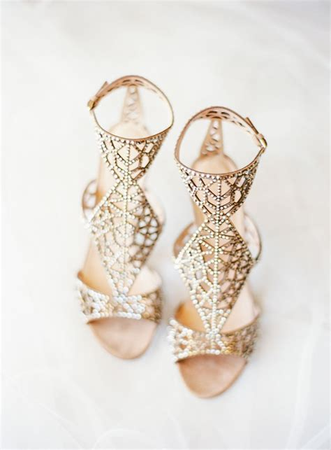 Flat Embellished Wedding Shoes by Gold Sergio Embellished Sandals Wedding Shoes
