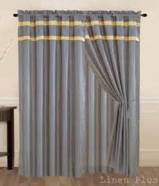 Yellow And Gray Window Curtains New Gray Yellow Curtain Panel Window Covering Drapes