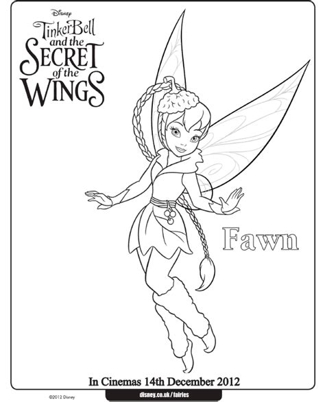 tinker bell coloring pages fawn