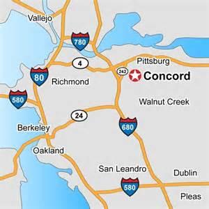 map of concord california concord california map