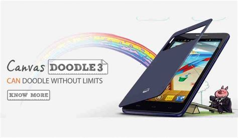 micromax doodle 3 price in india 2014 flipkart micromax canvas doodle 3 launched for rs 8 500 attractive