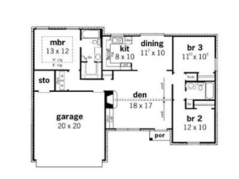 3 bedroom cottage plans simple small house floor plans 3 bedroom simple small