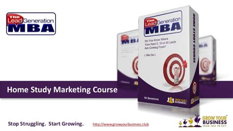 Certification Courses For Mba Marketing Students by Home Study Marketing Course