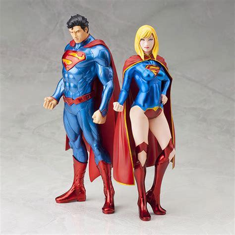 Mainan Superman Supergirl Set 2 Figure artfx superman supergirl dc comics new 52 edition set beat