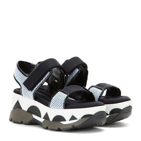platform sandals lyst marni platform sandals