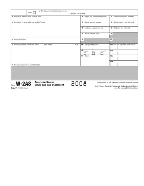 section 12a on w2 form w 2as american samoa wage and tax statement info