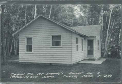 Manistique Lake Cabins by Rppc View Of Cabin 1 At Sprangs Resort On South Manistique