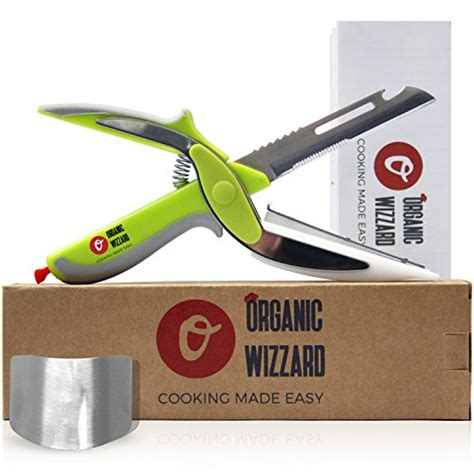 universal knife 6 in 1 food chopper food scissors slicer organic wizzard kitchen knife with cutting board and