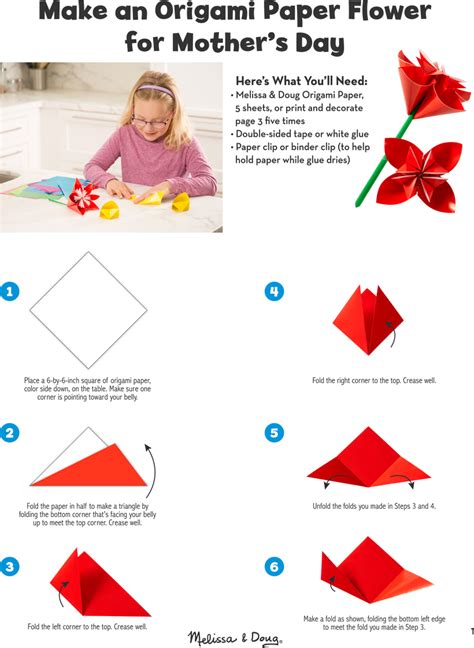 Mothers Day Origami - diy origami paper flower for mother s day