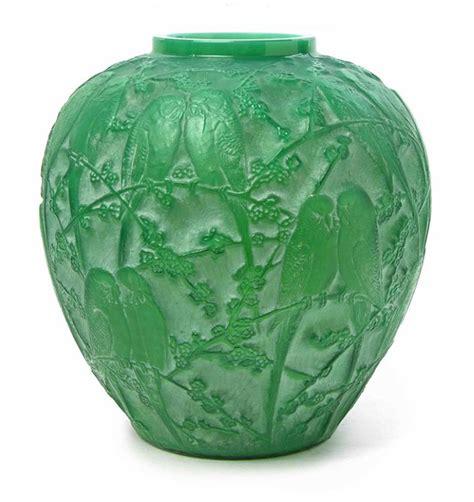 Lalique Green Vase by R Lalique Philip Chasen Antiques