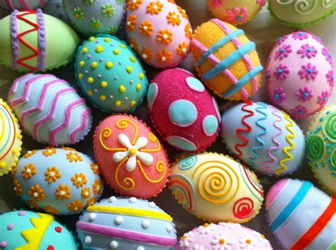 decorated easter eggs easter moco choco