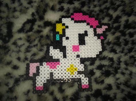 unicorn perler pattern tokidoki unicorn perler by pandaelle on deviantart