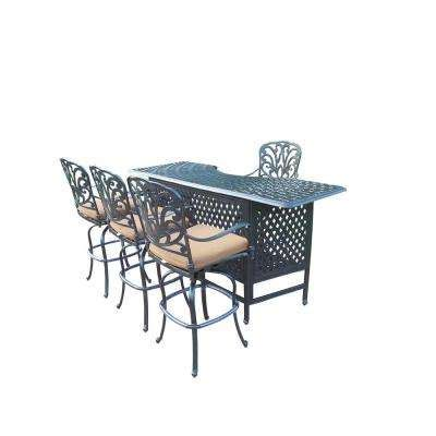 new mojave commercial outdoor aluminum resin wicker bar patio bar sets outdoor bar furniture the home depot