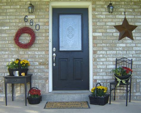 small front entrance decorating ideas inexpensive simple front porch ideas from home hinges