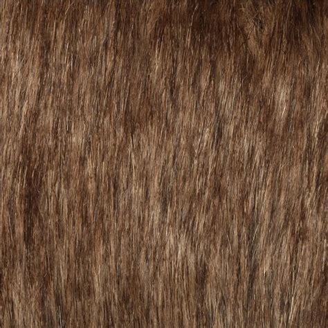 brown fur pattern long haired faux fur fabric discount designer fabric