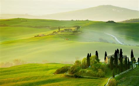 italy tuscany nature summer countryside house green