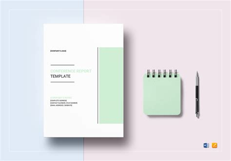 conference report template conference report template in word docs apple pages
