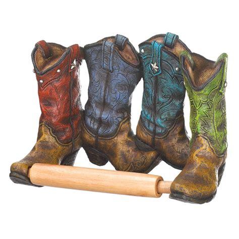 wholesale home decor cowboy boots toilet paper holder wholesale at koehler home