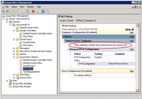 central store central store for policy administrative templates admx