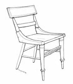 drawing of a chair side chair