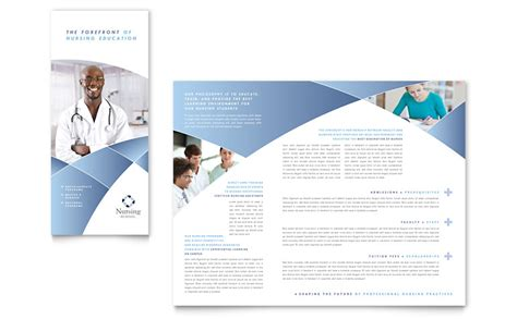 nursing school hospital tri fold brochure template word