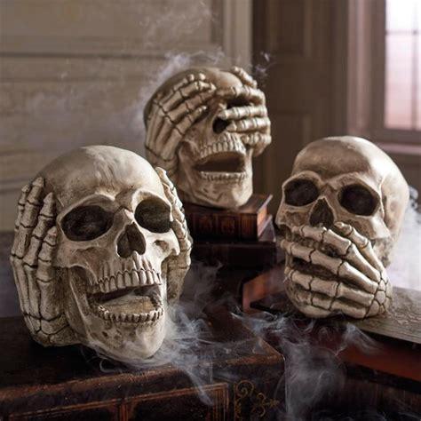 Evil Skull no evil skulls set of three grandin road