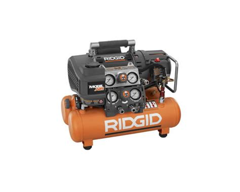 ridgid tri stack  gallon compressor review tool box