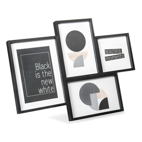 cornice x foto cornice foto a 4 immagini in legno nera 27 x 35 cm noam