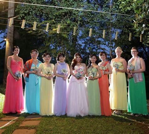 Traveling Shoes Rainbow rainbow bridesmaids dresses pastel colour wedding theme