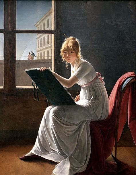 young woman drawing 1801 marie denise villers online