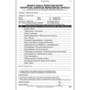 Book Report Template Spanish simplified driver s vehicle inspection report bilingual
