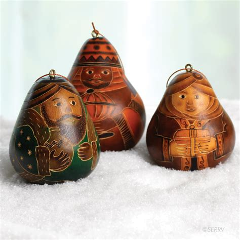 three kings gourd ornaments