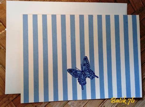 Kartu Ucapan Handmade Batik76 Motif 1 jual kartu ucapan premium batik motif kupu kupu biru size m kartu ucapan batik kartu ucapan
