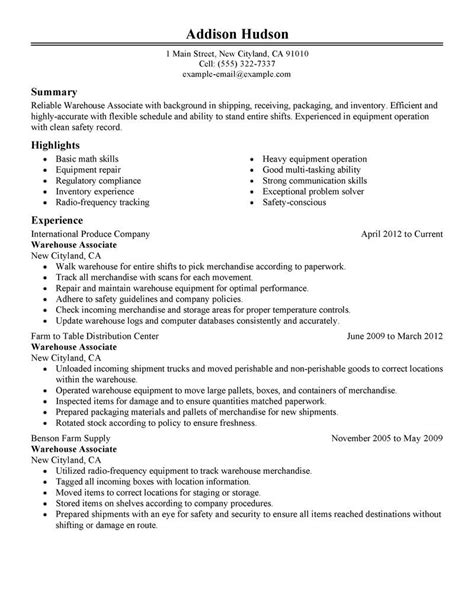 warehouse worker resume warehouse worker resume sample uxhandycom