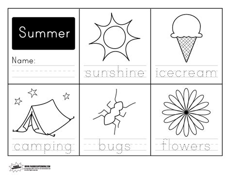 printable summer activity sheets printable summer handwriting worksheet paging supermom