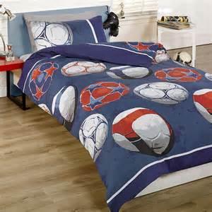 Non Iron Bed Linen - boys soccer football blue uk double fits au queen bed doona quilt duvet cover ebay