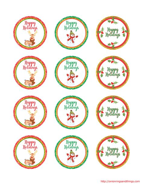 printable christmas jar toppers christmas gift giving free printables onion rings things