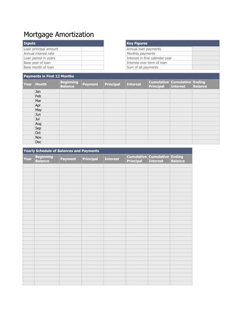 monthly amortization schedule excel template monthly amortization schedule excel template excel format