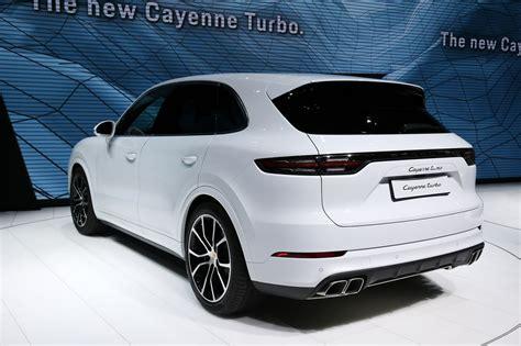 porsche suv turbo 2018 porsche cayenne turbo unveiled at the 2017 frankfurt