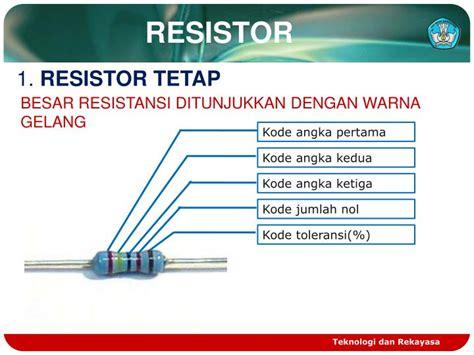 resistor tetap ppt komponen pasif powerpoint presentation id 2078604