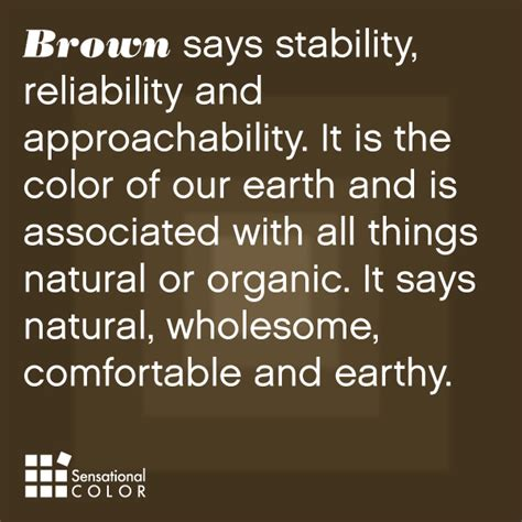 color brown meaning meaning of the color brown sensational color