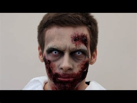 tutorial makeup man zombie make up tutorial for halloween sfx zombie