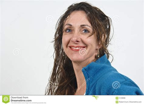 attractive middle aged hair attractive middle aged woman royalty free stock photos