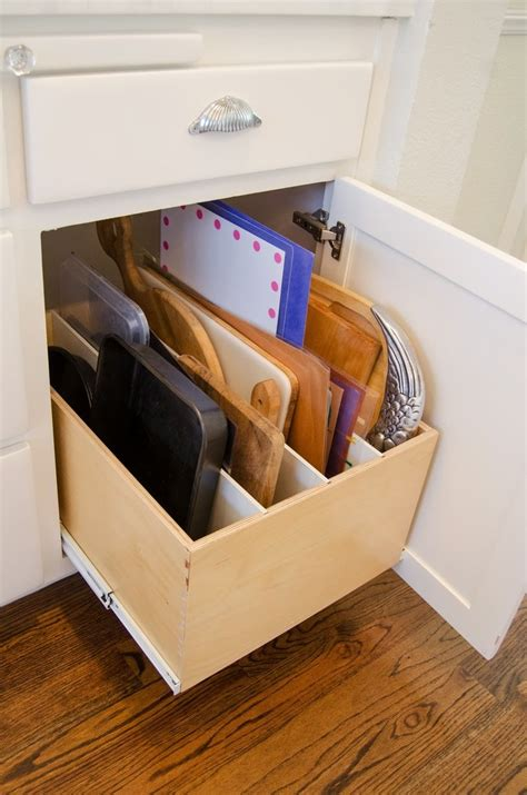 inside kitchen cabinet organizers i would have made it a drawer front rather than a cabinet