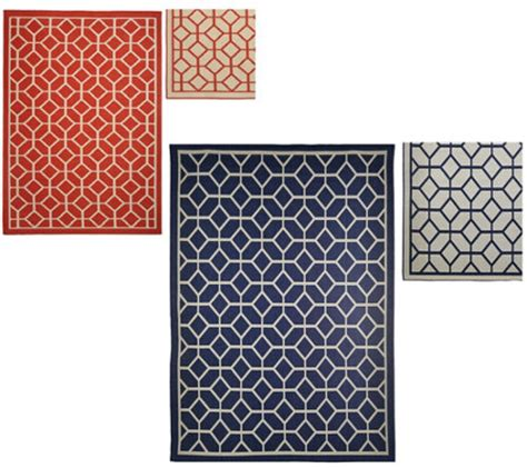 Veranda Living Indoor Outdoor Rug Veranda Living Indoor Outdoor Geometric Reversible Rug Qvc