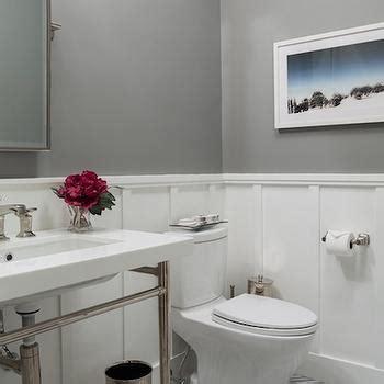 Board and Batten Powder Room   Transitional   bathroom