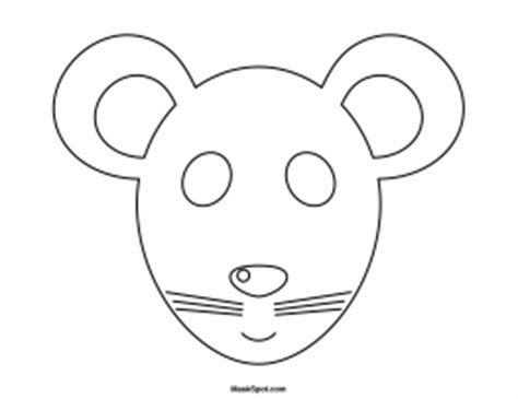 printable mouse mask template printable mouse mask