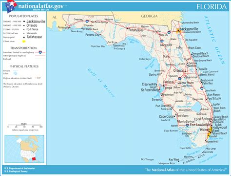 florida on world map map of florida general map worldofmaps net